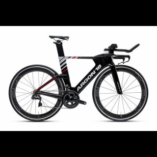 Argon18 E-119 Tri triatlono dviratis / Black Matte - Silver Gloss