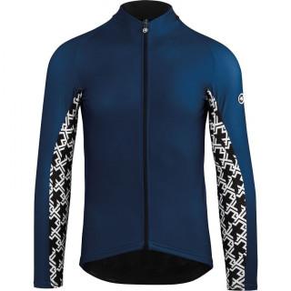 Assos MILLE GT Spring Fall vyriški dviratininko marškinėliai - Caleum Blue