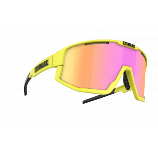 BLIZ Active Fusion Matt Neon Yellow akiniai