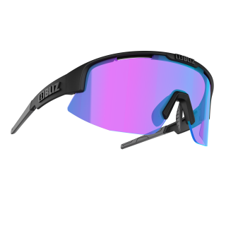 BLIZ Active Matrix Nordic Light Matt Black Violet-Blue Multi akiniai