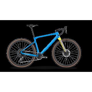 BMC UnReStricted 01 TWO gravel+ dviratis / Metallic Blue - Sunbeam Yellow