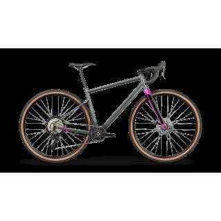BMC UnReStricted AL THREE gravel+ dviratis / Metallic Grey Green - Fuchsia