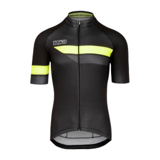 Bioracer Team  bodyfit 2.0, Black/Fluo yellow marškinėliai