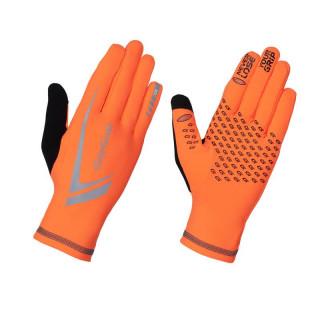 GripGrab Expert Hi-Vis Winter Touchscreen bėgimo pirštinės, Orange