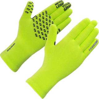 "GripGrab dviratininko pirštinės ""Waterproof Knitted Thermal"", Yellow Hi-Vis"
