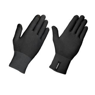 """GripGrab žieminės dviratininko pirštinės """"Merino Liner"""", Black"""