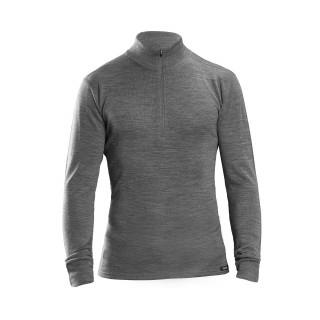 GripGrab Merino Bamboo 1/2 Zip Long Sleeve Termo marškinėliai, Grey