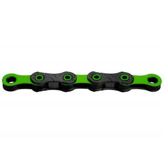 KMC X12 DLC Black/Green grandinė, 12 pavarų, 126 narelių
