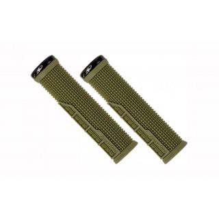 Lizard Skins Lock-On Machine vairo rankenėlės, olive green