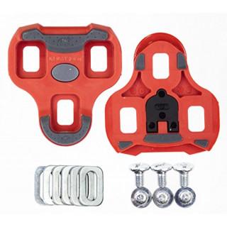 Look KEO Grip pedalų plokštelės raudonos (ARC 9°)