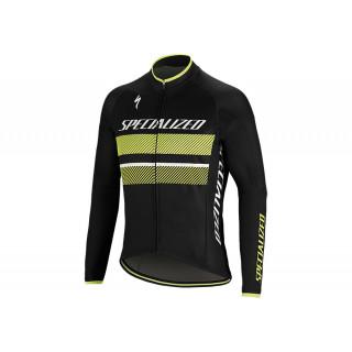Specialized THERMINAL RBX COMP LOGO LS vyriški dviratininko marškinėliai, juodi/geltoni