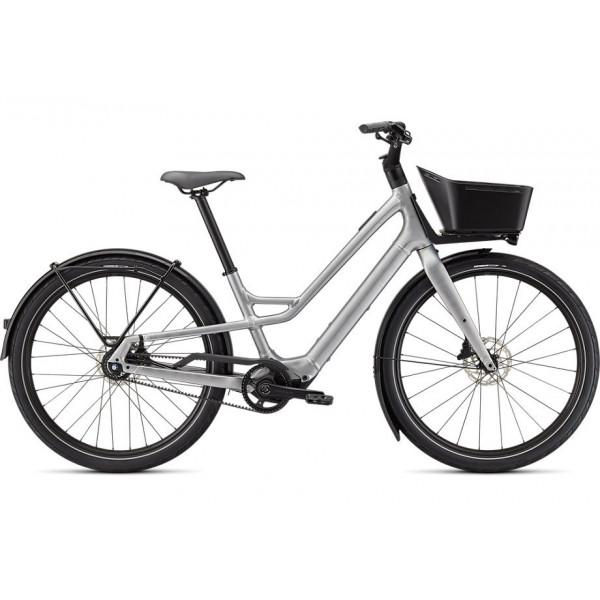 SPECIALIZED TURBO COMO SL 5.0  elektrinis dviratis / Brushed Silver - Transparent