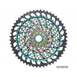 SRAM XX1 XG-1299 Eagle Kasetė, 12 pavarų, Rainbow
