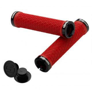 SRAM Lock On raudonos vairo rankenėlės