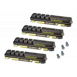 SwissStop Flach Evo Black Prince stabdžių kaladėlės karboniniams ratams, Shimano 9/10/11, SRAM, 2 poros