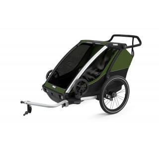 Thule Chariot Cab 2 dviračio priekaba, Aluminum/Cypress Green