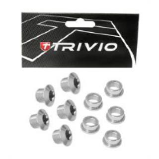 Trivio Race dantračio varžtai, 9.9X4.05, sidabriniai
