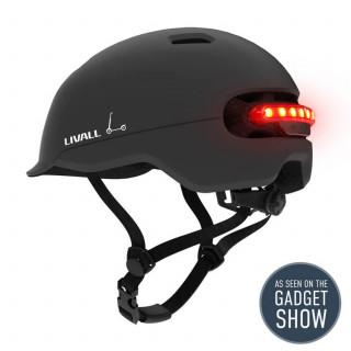 Livall C20 City išmanusis dviratininko / paspirtuko šalmas, Midnight Black