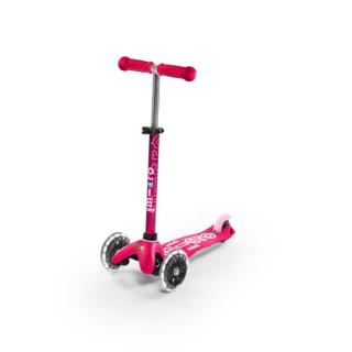 Mini Micro Deluxe LED Pink paspirtukas