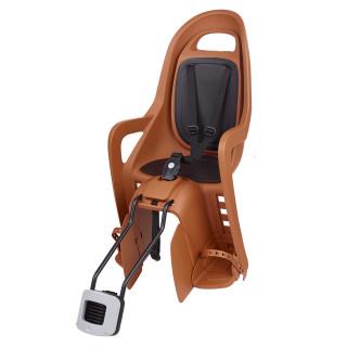 """Polisport Groovy FF 29"""" vaikiška kėdutė dviračiui ant rėmo, Caramel Brown Black"""