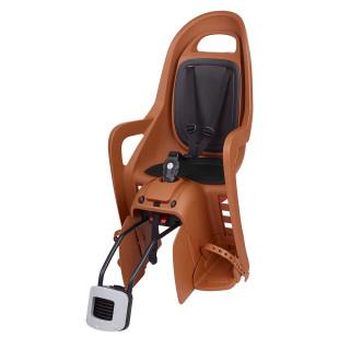 Polisport Groovy RS+ vaikiška kėdutė dviračiui ant rėmo, Caramel Brown Black